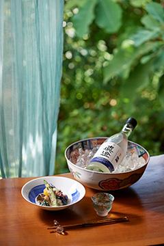 純米生酒と夏野菜酒粕和え