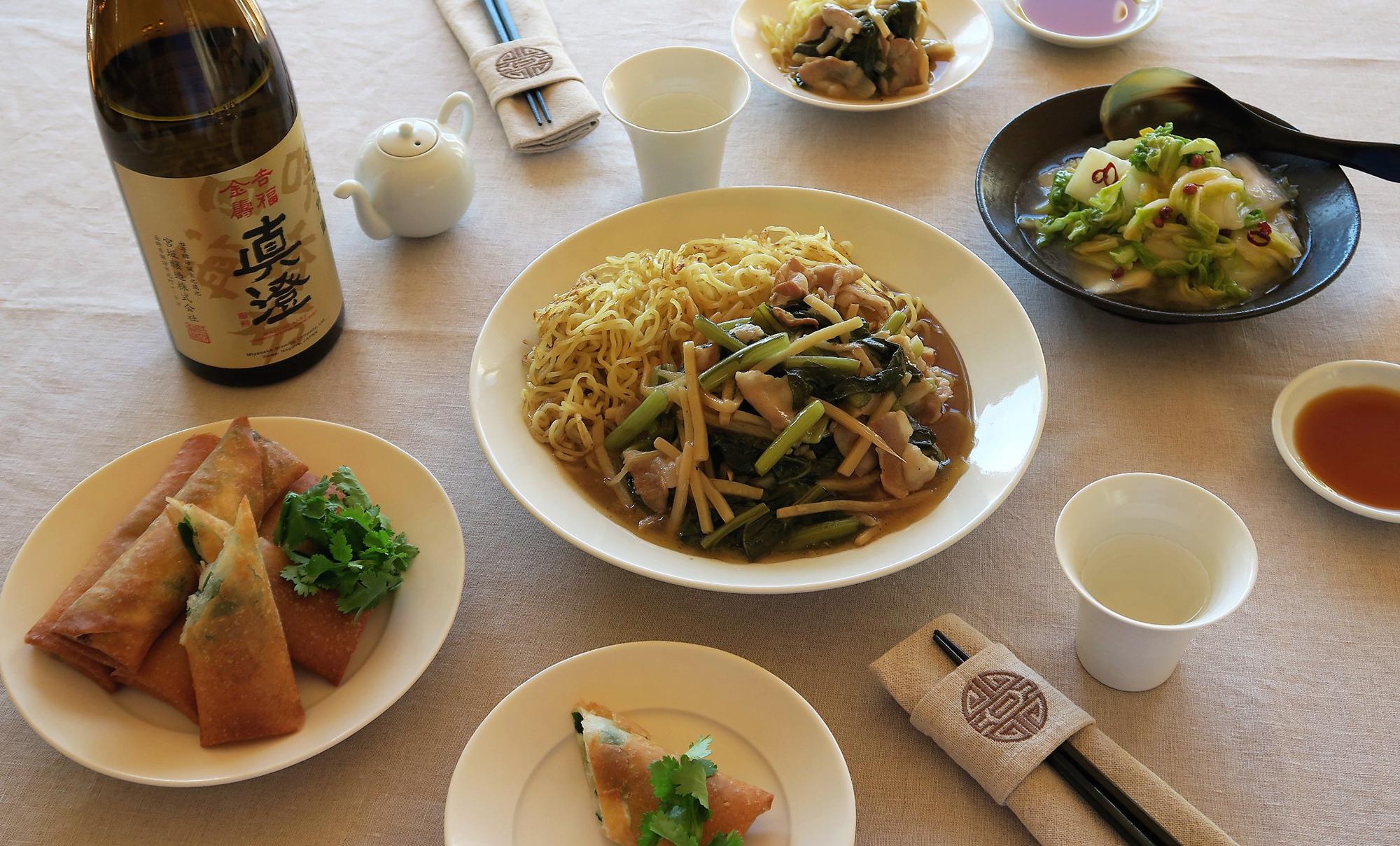 吉福金寿と料理3点
