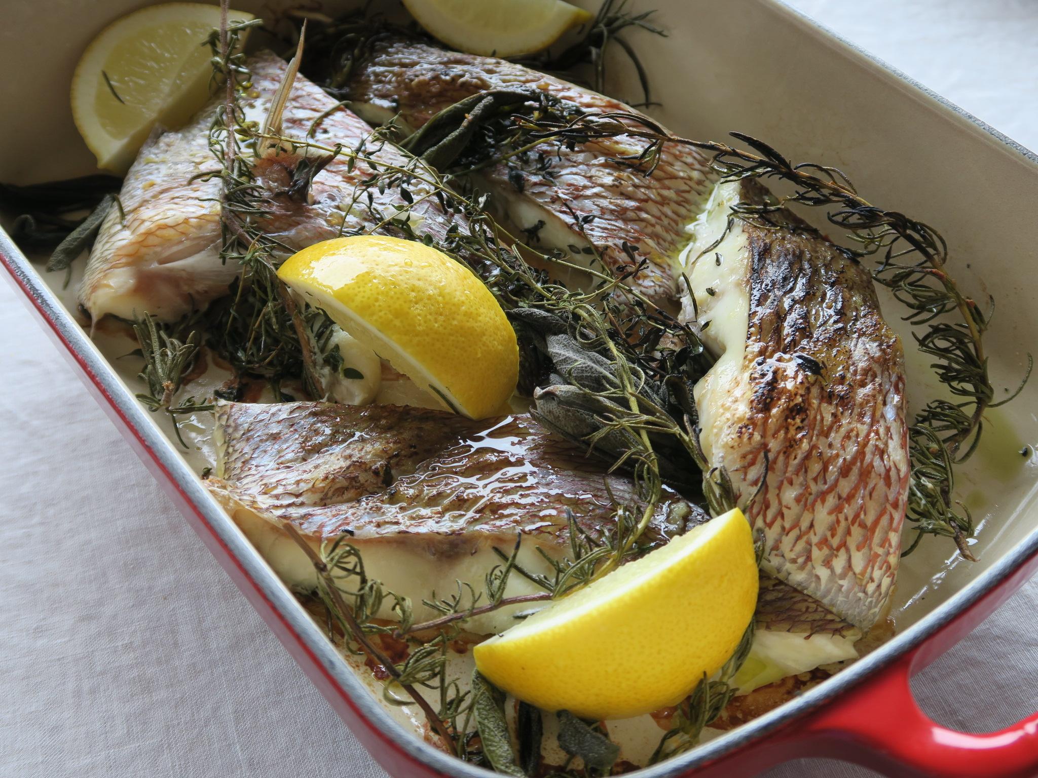 鯛の香草焼き