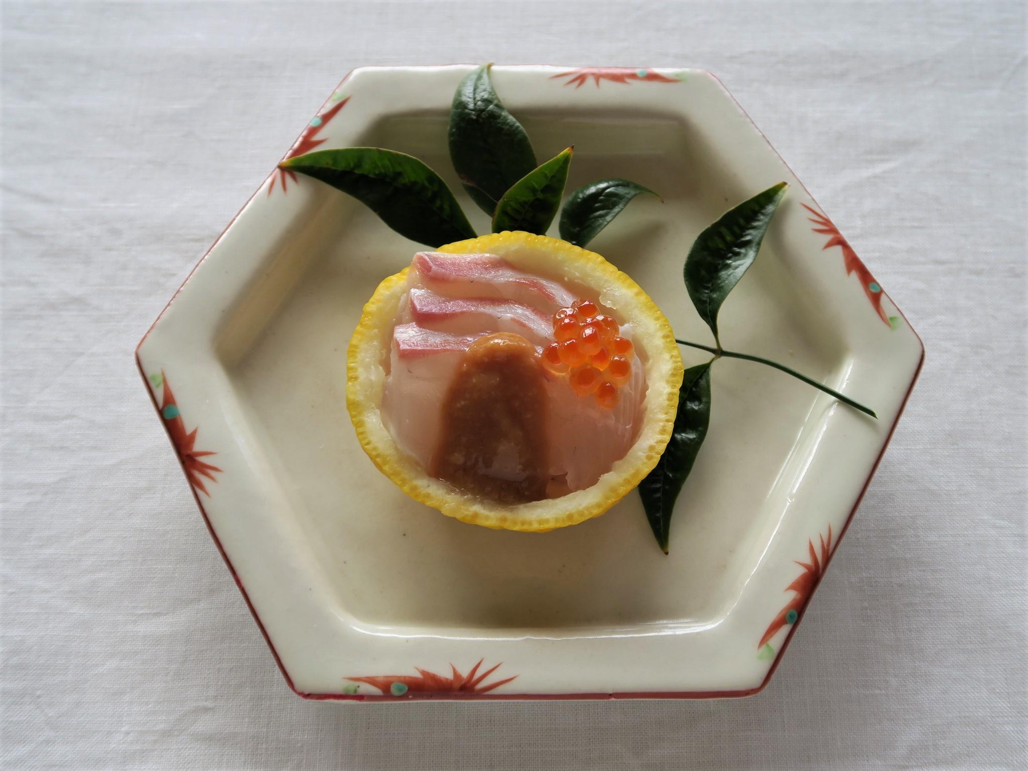 鯛のゆず味噌がけ
