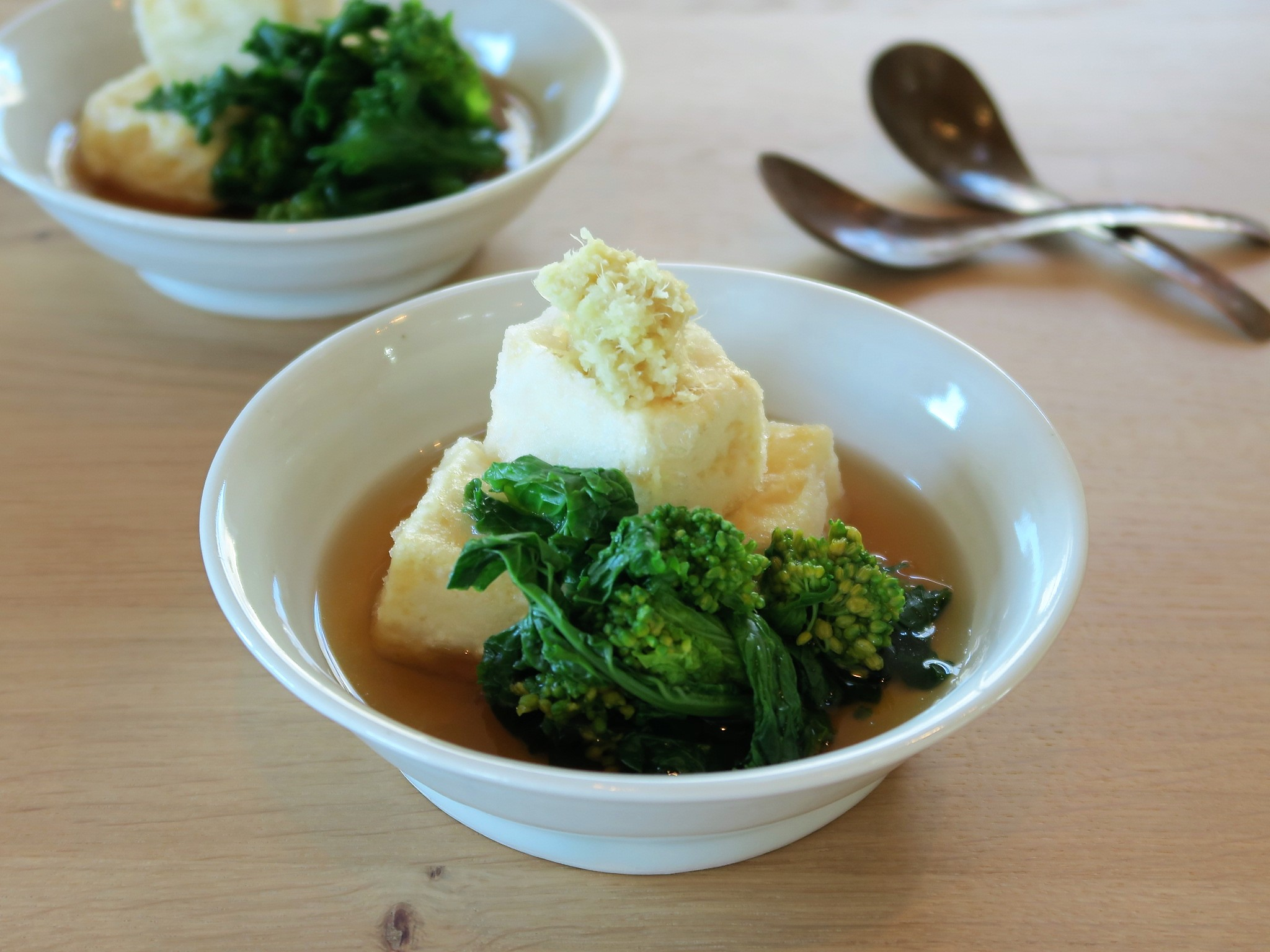 菜花と揚げだし豆腐