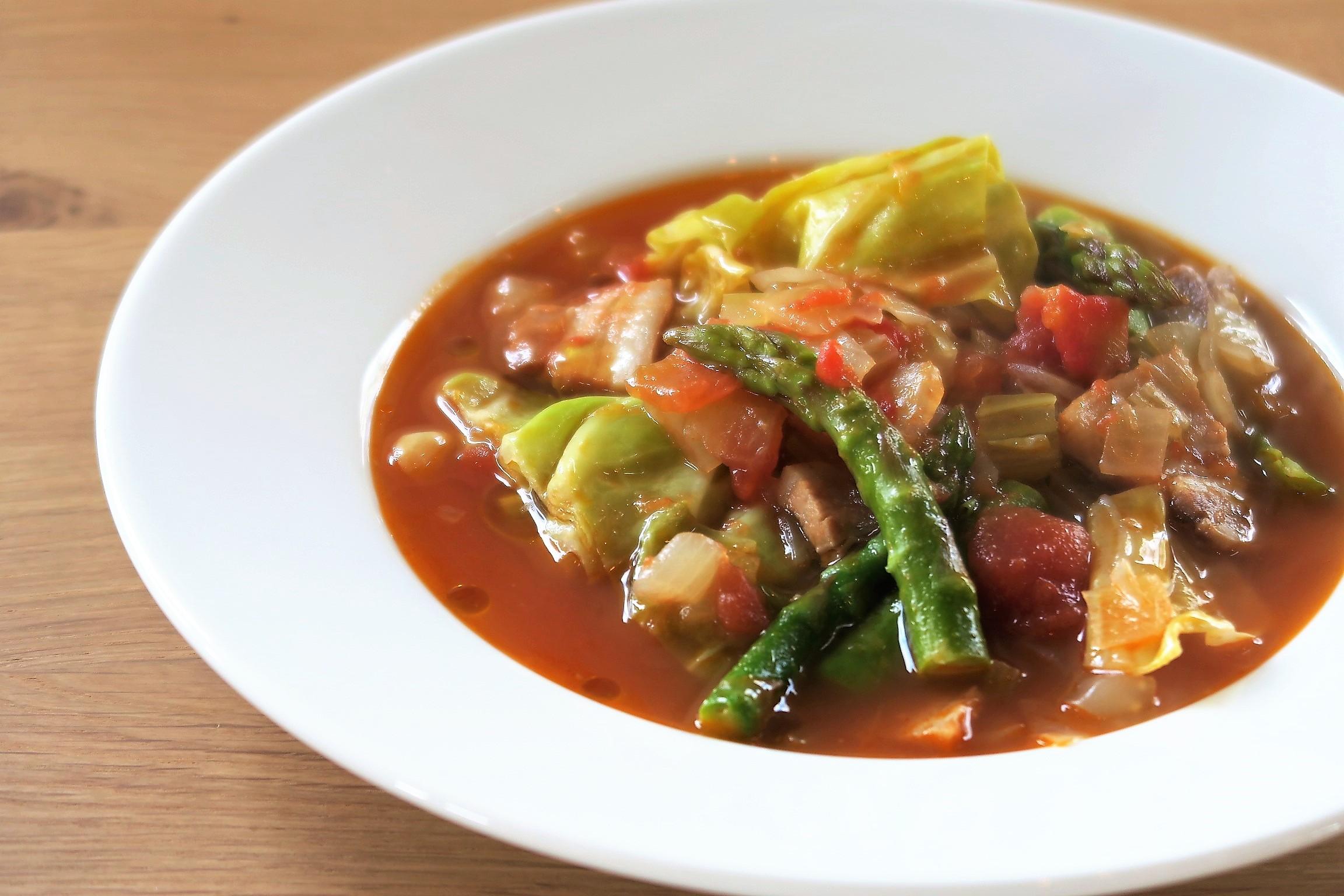 春野菜のミネストローネスープ