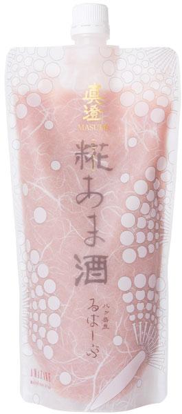 真澄 糀あま酒るばーぶ 富士見産ルバーブを使用したピンクの甘酒。